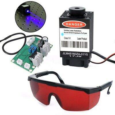 Focusable High Power 2.5w 445nm Blue Laser Module Ttl 12v Carving W Red Goggles
