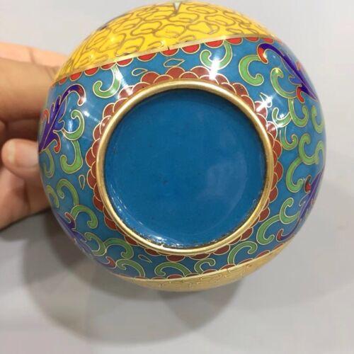 Chinese Antique Fine cloisonne enamel painted plum tea pot