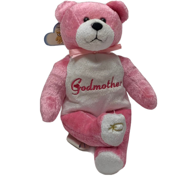 """Godmother Plush 2007 The Original Holy Bear Christian Gift Mother's Day Pink 9"""""""