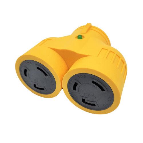 Generator L5-30 Splitter Adapter, 30 AMP 125V Male L5-30P to (2) L5-30R Female
