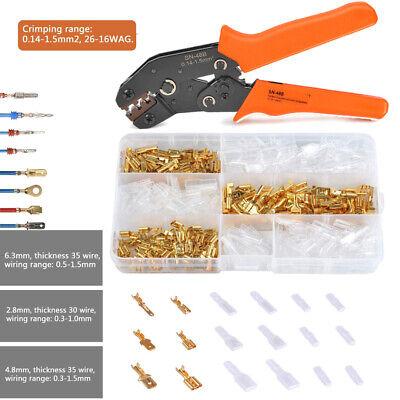 Sn-48b Crimp Plier Tool600pcs Female Spade Terminalsset Fit Dupont Jst-sm