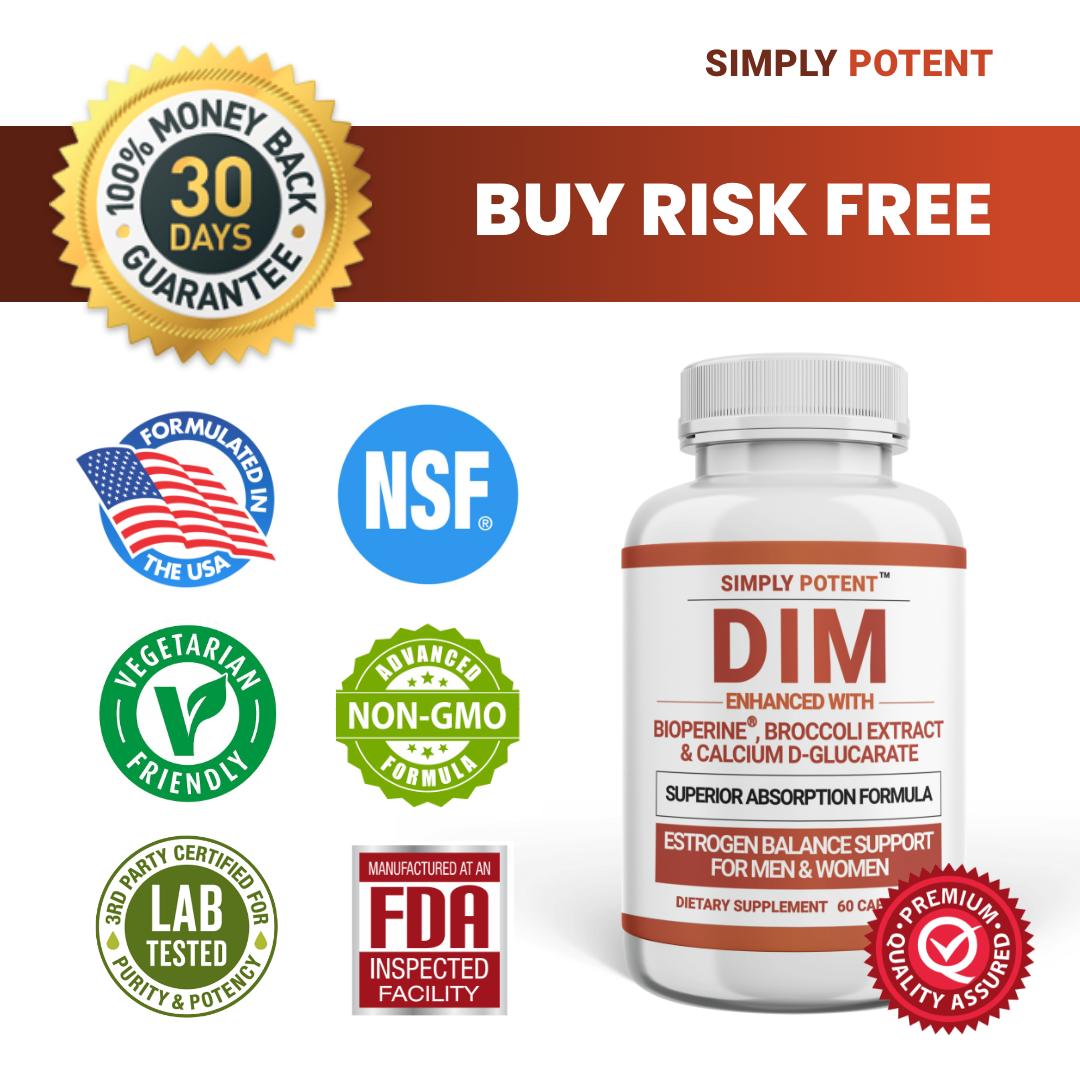 DIM Supplement 150mg + BioPerine for Menopause Relief Hot Flashes Estrogen Pills 9