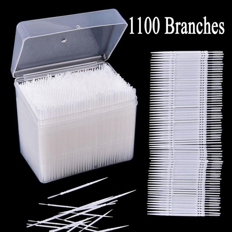 1100Pcs Plastic Dental Picks Oral Hygiene 2 Way Interdental