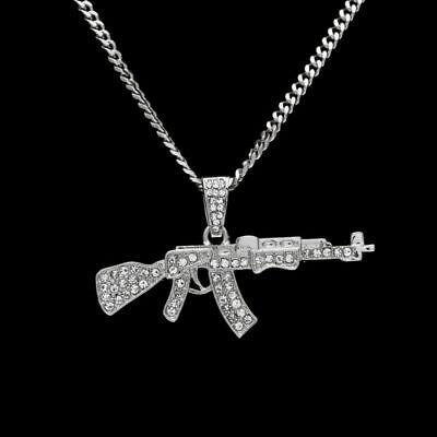 Hip Hop Punk Ak47 Waffe Halskette Maschinengewehr Gangster - Gangster Ketten