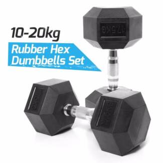 Rubber Hex Dumbbells Packages For Commercial Gyms / home Gyms NEW