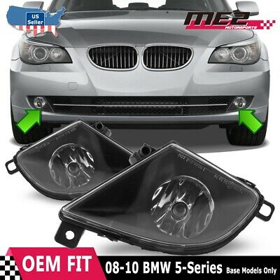 Fits 08-10 BMW E60 PAIR Fog Lights Clear Lens OE Replacement SAE DOT + Bulbs
