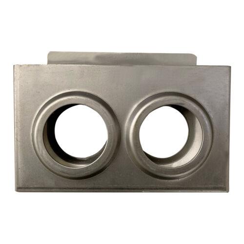 "Double Metal Lock Box, Steel, Doors and Gates, 7.5"" x 4.5"" x 1.10"", 1"", Weldable"