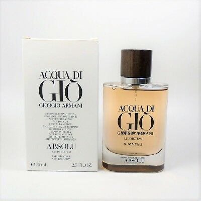 Acqua Di Gio Absolu By Giorgio Armani EDP for Men 2.5 oz - 75 ml *NEW TST BOX*