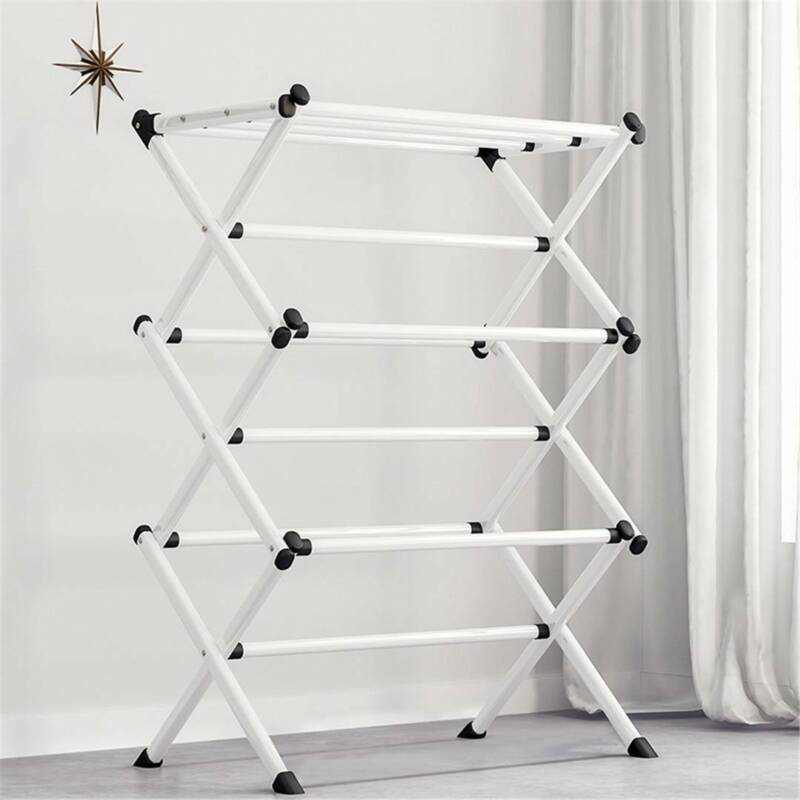 Oversize Folding Clothes Drying Rack Steel For Laundry Room