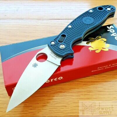 "Spyderco Manix 2 Lightweight Knife 3.37"" CPM S110V Steel Blade Blue FRCP Handle"
