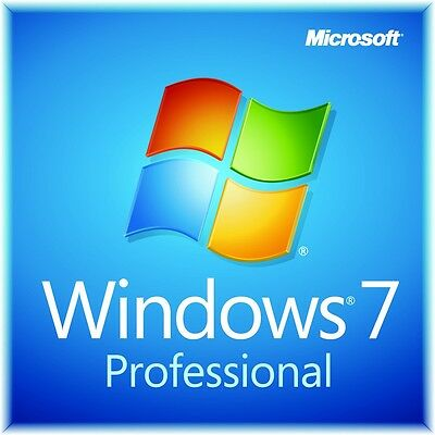 Microsoft Windows 7 Professional Pro   64 Bit Full Version With Sp1 New