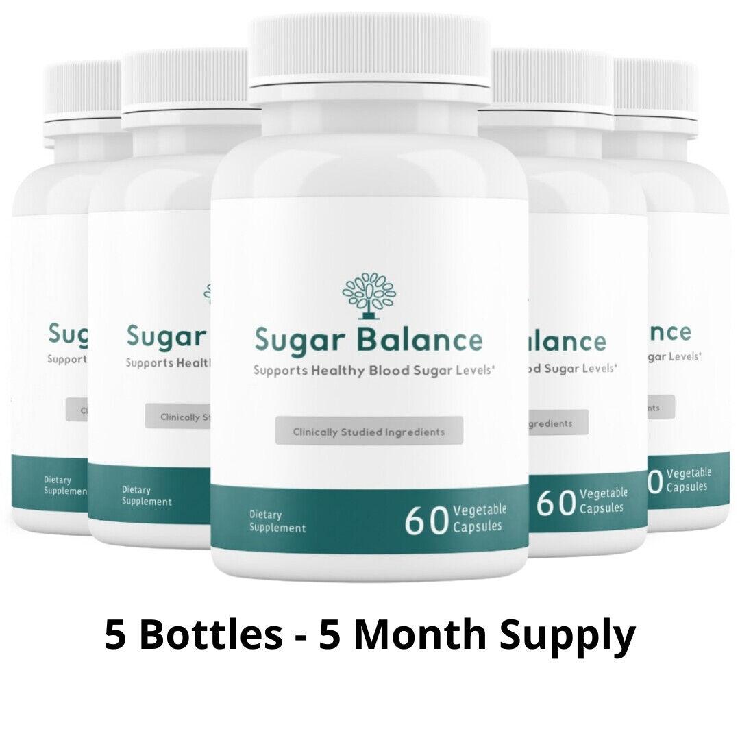 5 Bottles Sugar Balance Vegetarian Supplement 60 Capsules
