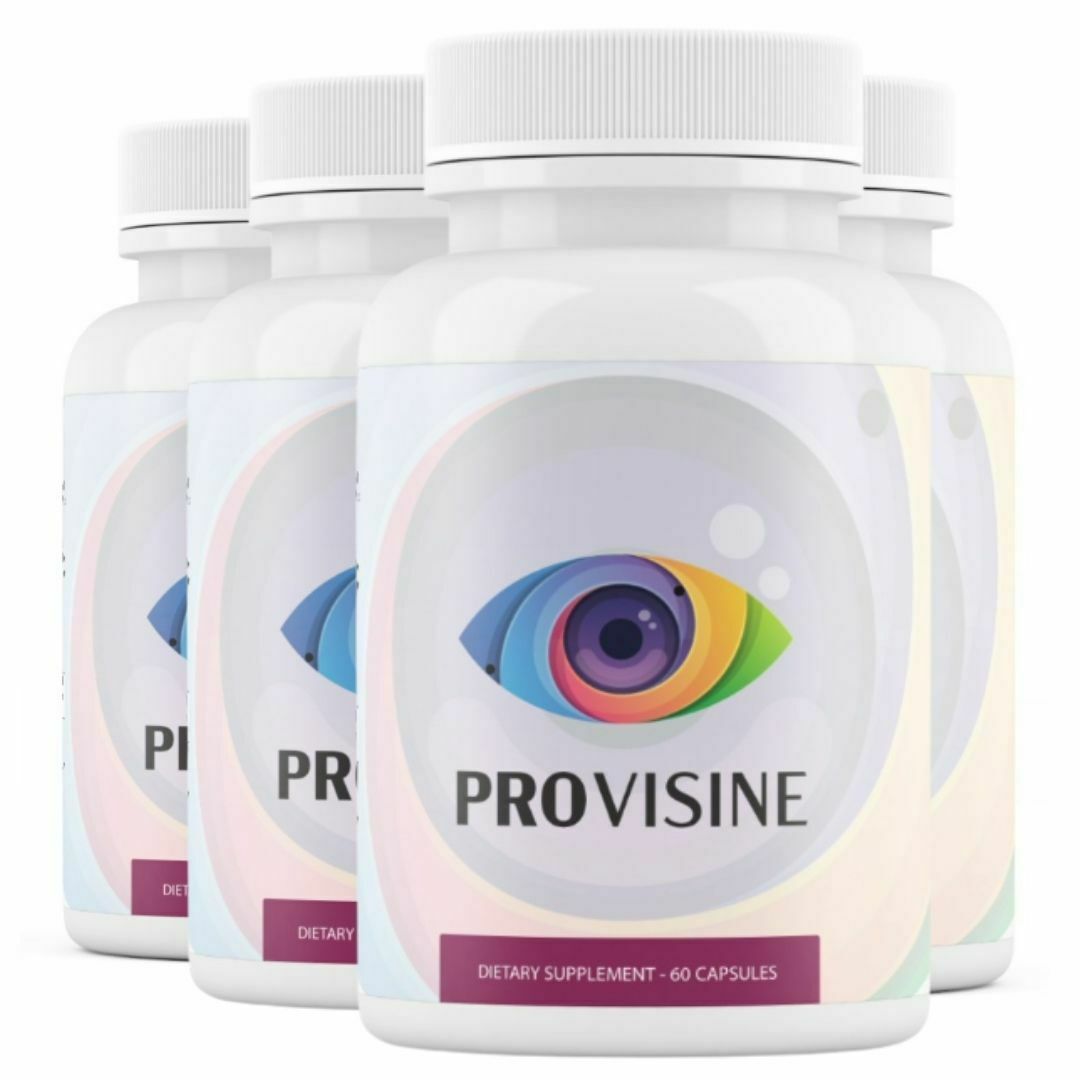 4 Bottles Provisine - Vision Support 60 Capsules x4