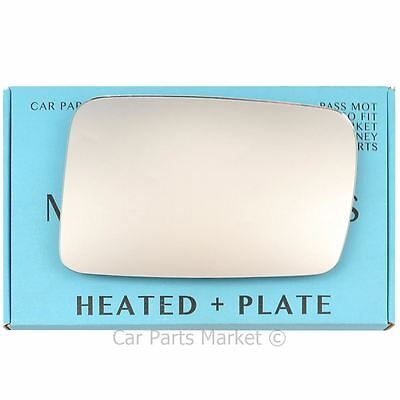 Right side Flat Wing door mirror glass for Jeep Commander 2006-10 heated + plate