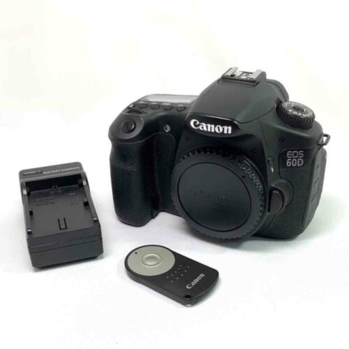 Canon EOS 60D 18.0 MP Digital SLR Camera - Black (Body Only) Digital SLR Free