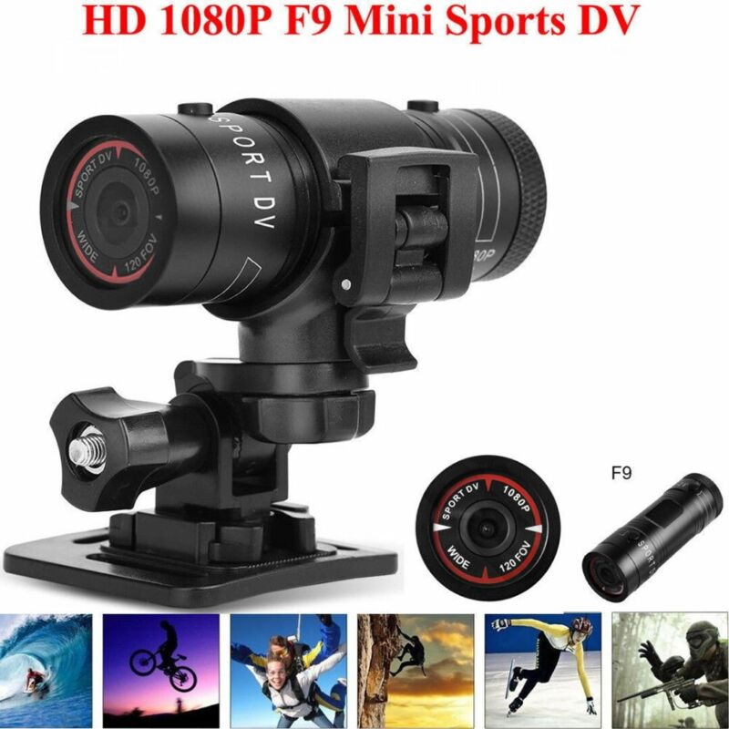 Mini F9 Camera 1080P Camcorder Sports DV Cam Action Bike Hel