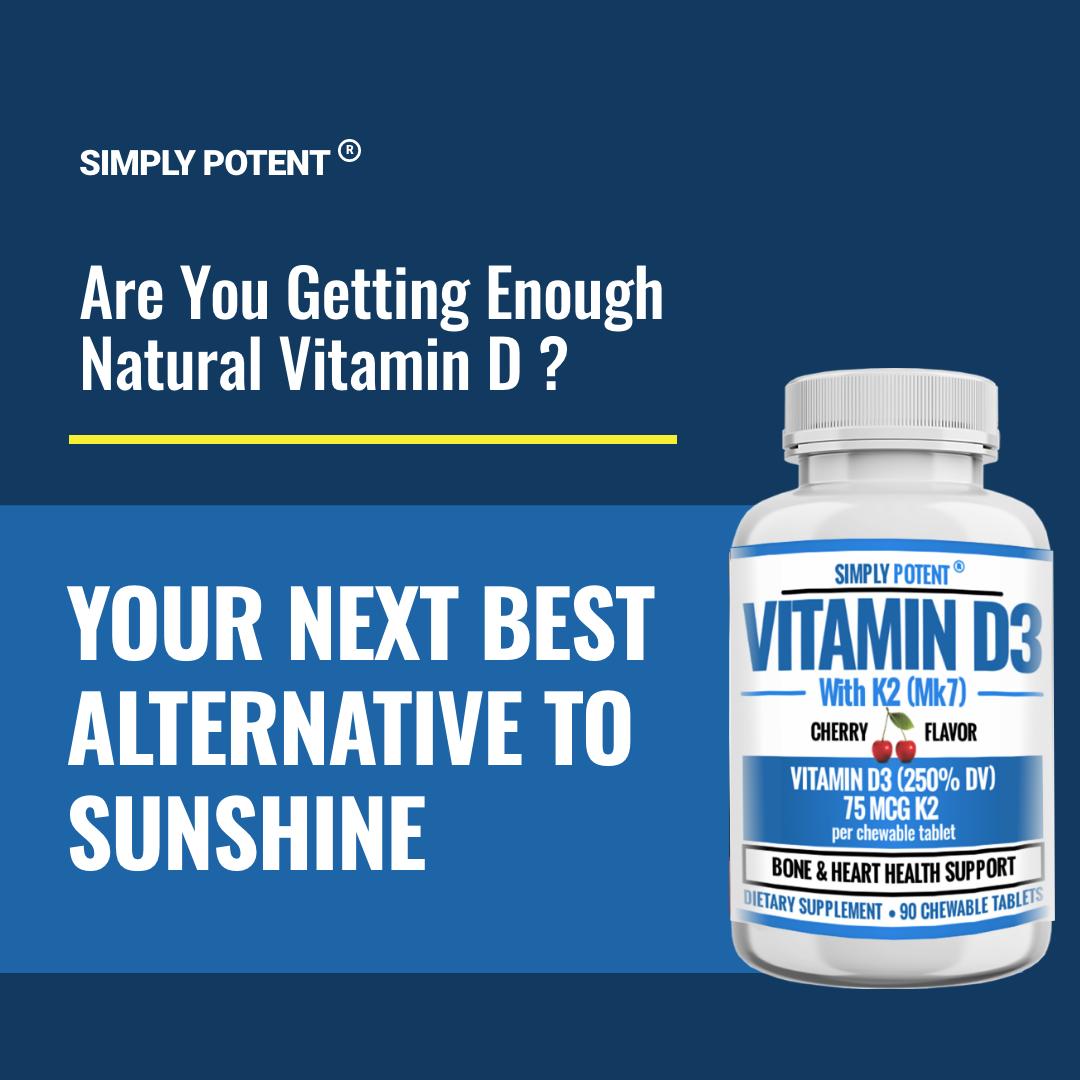 Vitamin D3 K2 (MK7) 90 Chewable Cherry Flavor Supplement for Bone & Heart Health 4