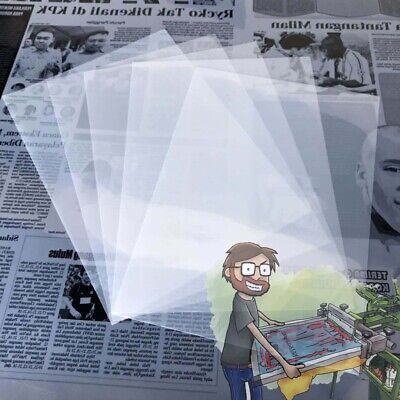8.5x11100 Sheetssilk Screen Printing Waterproof Inkjet Transparent Film Paper