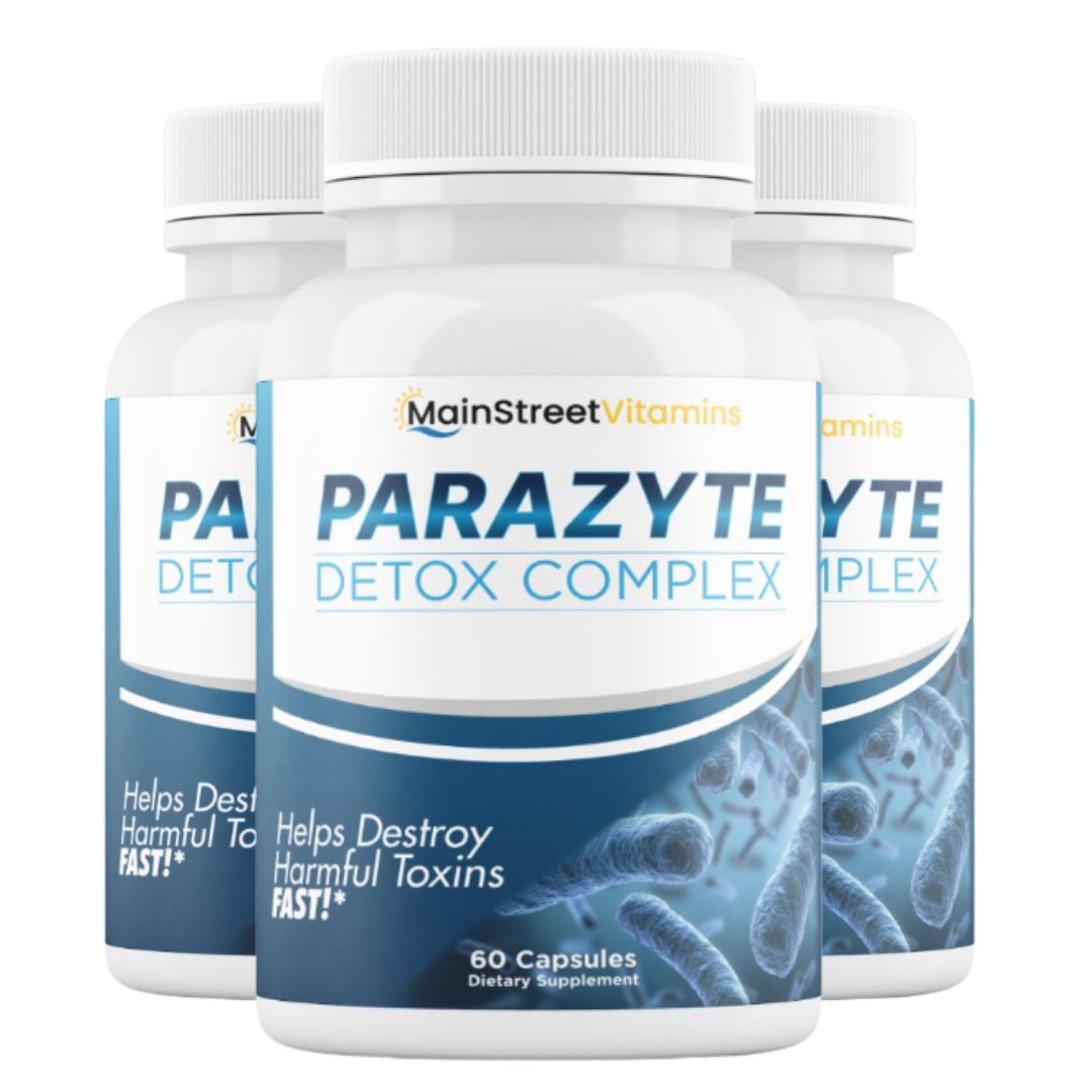 3 Bottles Parazyte Detox Complex Powerful Parasite Cleanse 60 Capsules