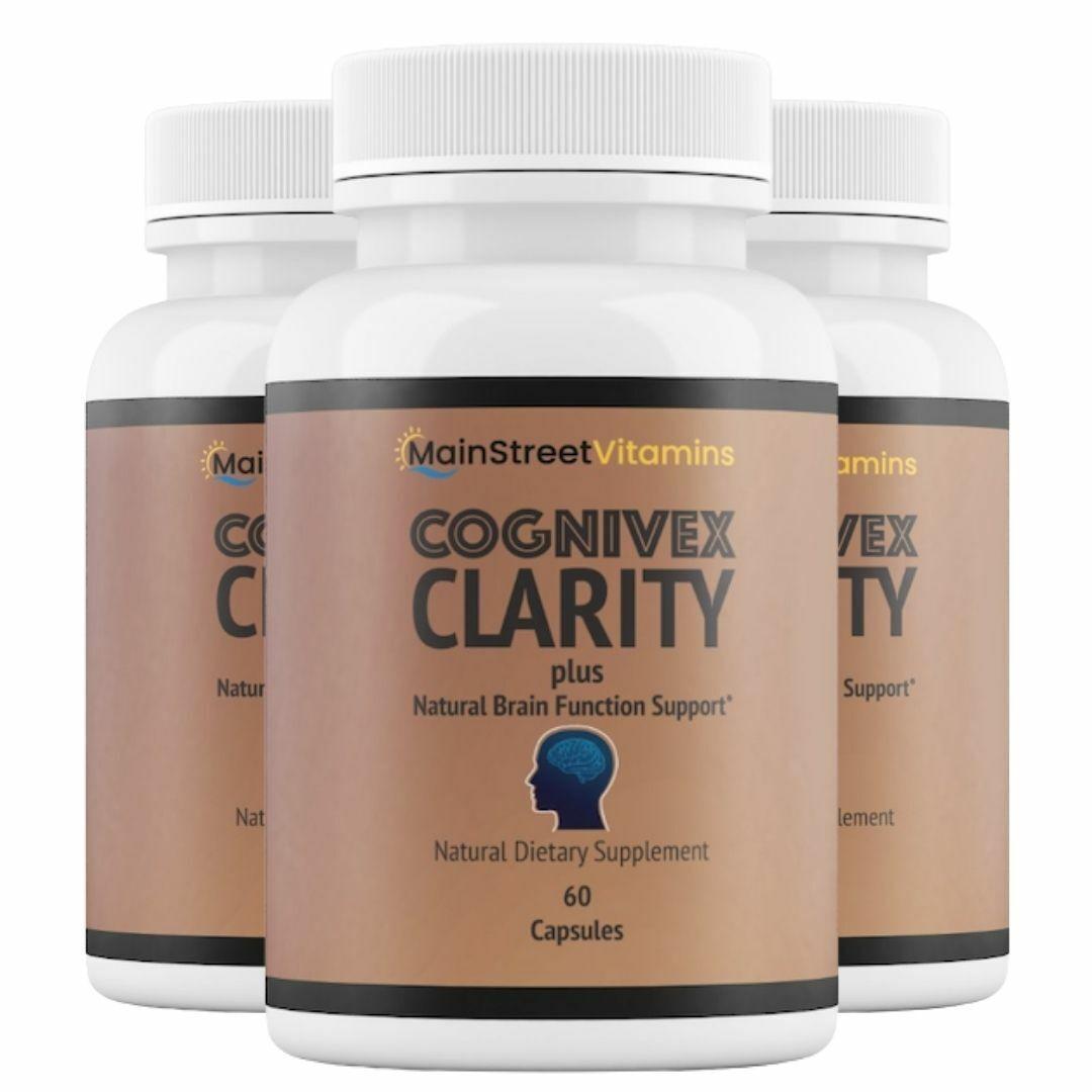 3 Bottles Cognivex Clarity Plus Brain Health - Advanced IQ Brain - 60 Capsules
