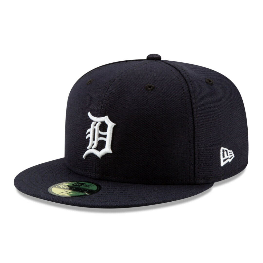 New Era 59Fifty Detroit Tigers HOME Fitted Hat (Dark Navy) Men's MLB Cap