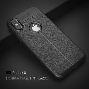 Protective Case for iPhones with leather texture.