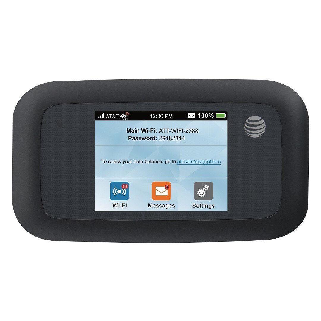 At & t - Velocity 4g Lte Wi-fi No-contract Hotspot - Black