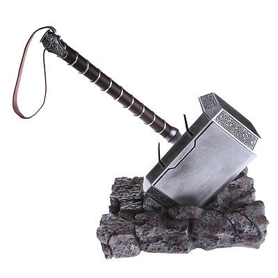 Thor Hammer Replica (The Avengers Thor Hammer Replica Cosplay Stand Base Resin Hammer And Stand)