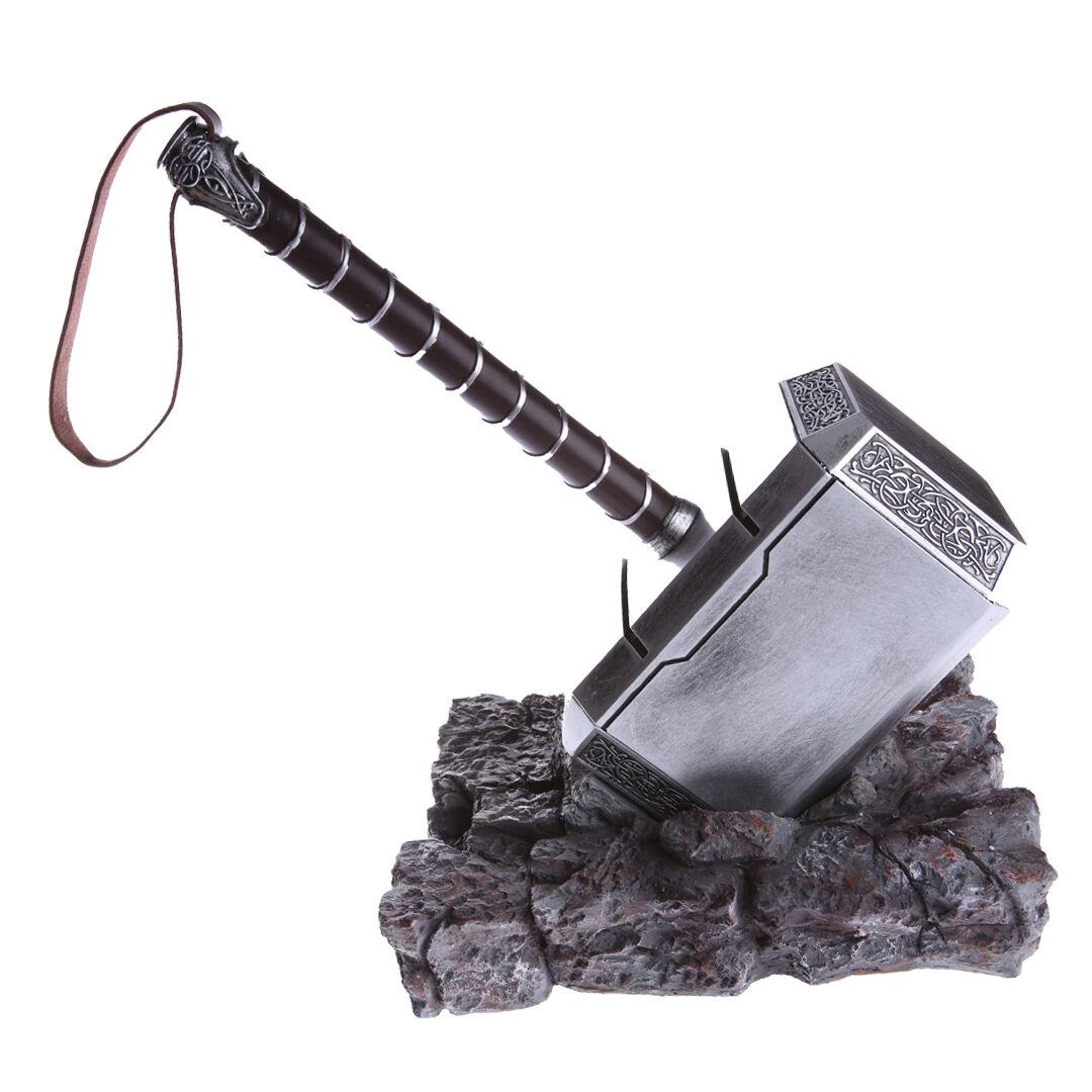 The Avengers Thor Hammer Full Set Replica Cosplay Stand Base Resin Thor Hammer Entertainment Memorabilia