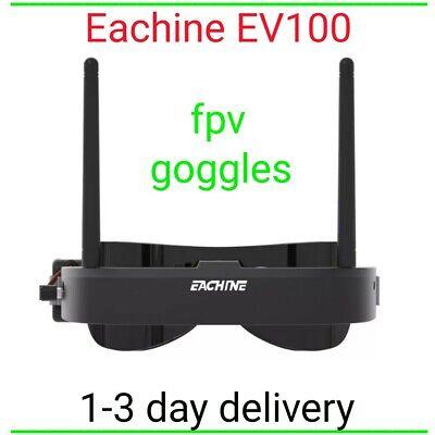 Eachine ev100 fpv goggles 72 channel 7.4 v 1000 mah (black)5.8g 720*540 (fan)