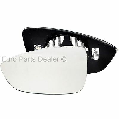 For VW Scirocco 08 15 left passenger side heated wing door mirror glass clip on
