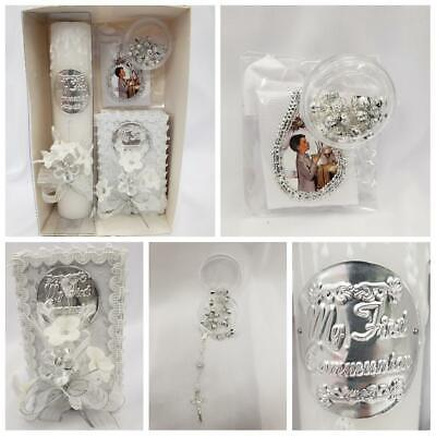 New Boy's First Communion 4pc Gift Set Rosary,Candle, English Missal & Armband](Boy First Communion Gifts)