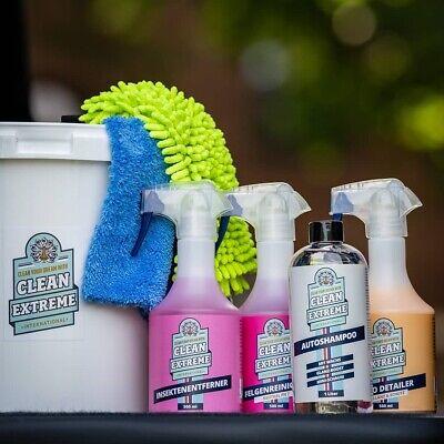 CLEANEXTREME Set Lavado Juego de Cuidados Coche Kit Limpieza Auto