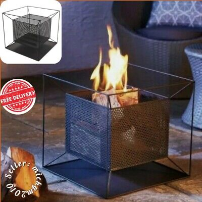 GARDENLINE ‼️ SQUARE FIRE BASKET - Built In Ash Catcher Patio Heater Fire Pit