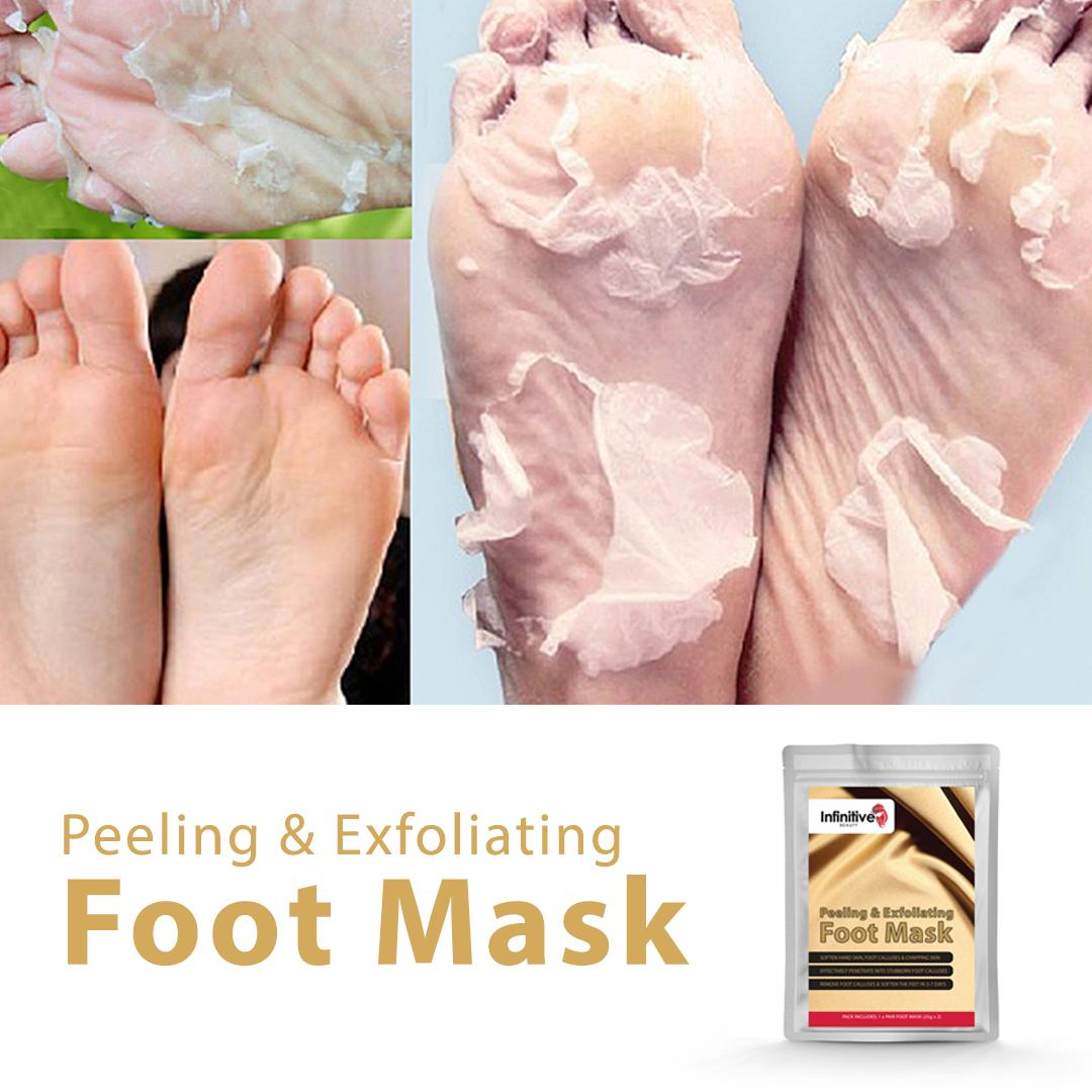 Exfoliating Peel Foot Sock Mask Baby Soft Feet Removes Dead Skin
