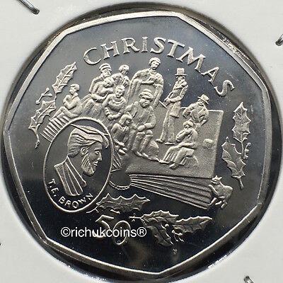 1997 IOM Xmas Diamond Finish 50p Coin