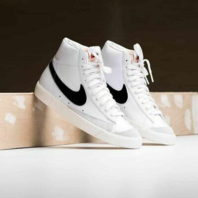 Nike Blazer Mid 77 Vintage Mens White Black Sneaker Shoe Basketball UK Size 6-12