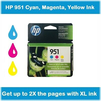HP 951 Color Ink Cartridges 3-Pack (Cyan, Magenta, Yellow) in Retail Box !!!