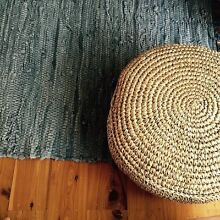 Leather rugs different sizes in light grey and charcoal North Narrabeen Pittwater Area Preview