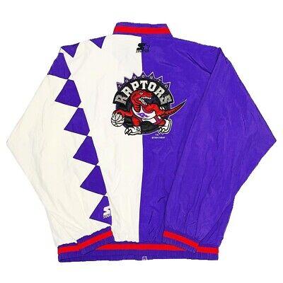 Vtg Very Rare NBA Toronto Raptors Split Starter Winbreaker Jacket. Mens XL.