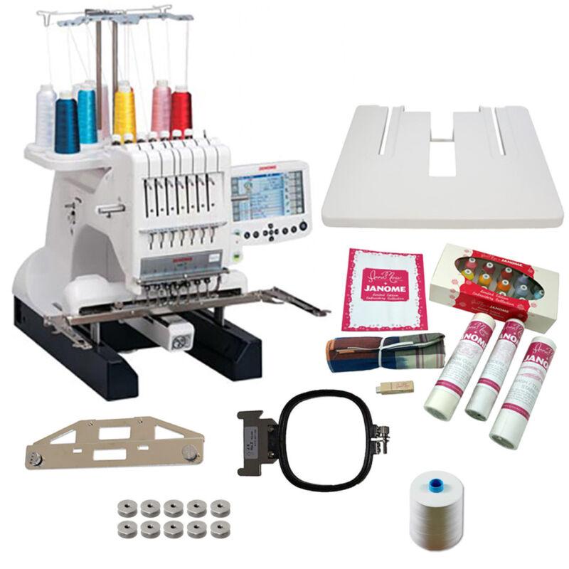 Janome MB-7 -- Embroidery Machine with Exclusive Bonus Bundle