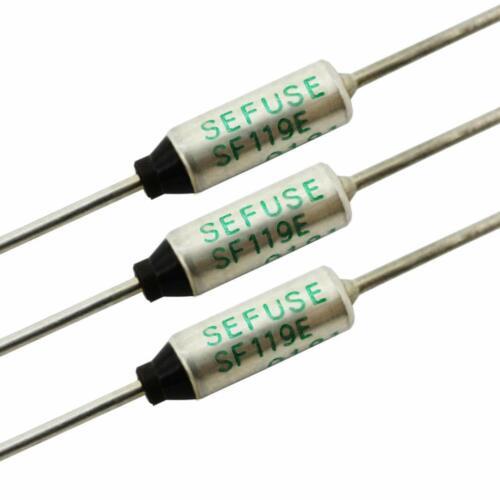 New 3 PCS SF119E SEFUSE Cutoffs NEC Thermal Fuse 121°C 121 Degree 10A 250V