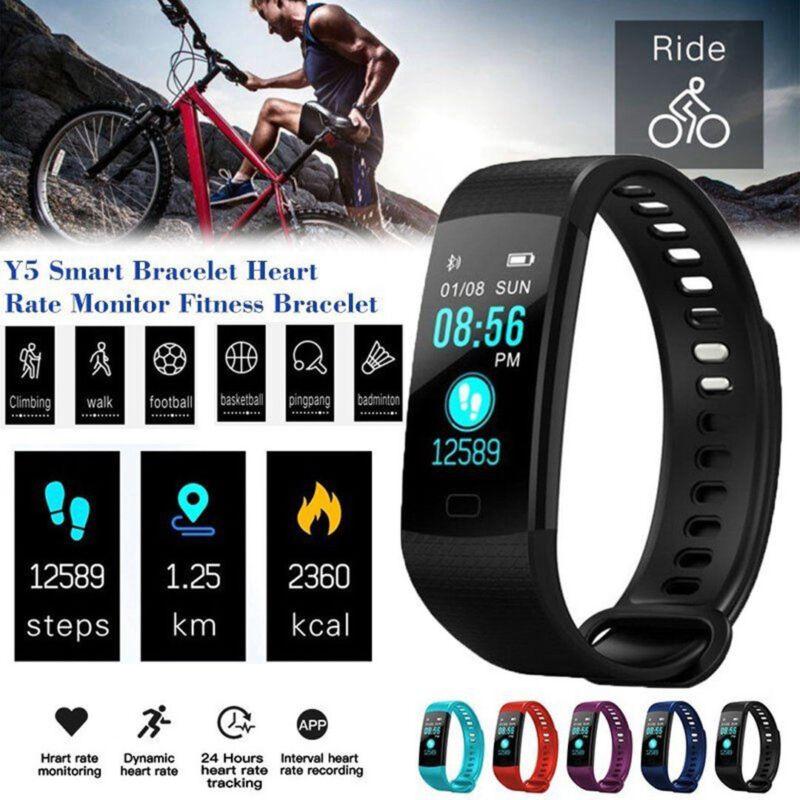 Y5 Bluetooth Smart Armband Fitness Uhr Schrittzähler Pulsuhr für Android IOS DHL