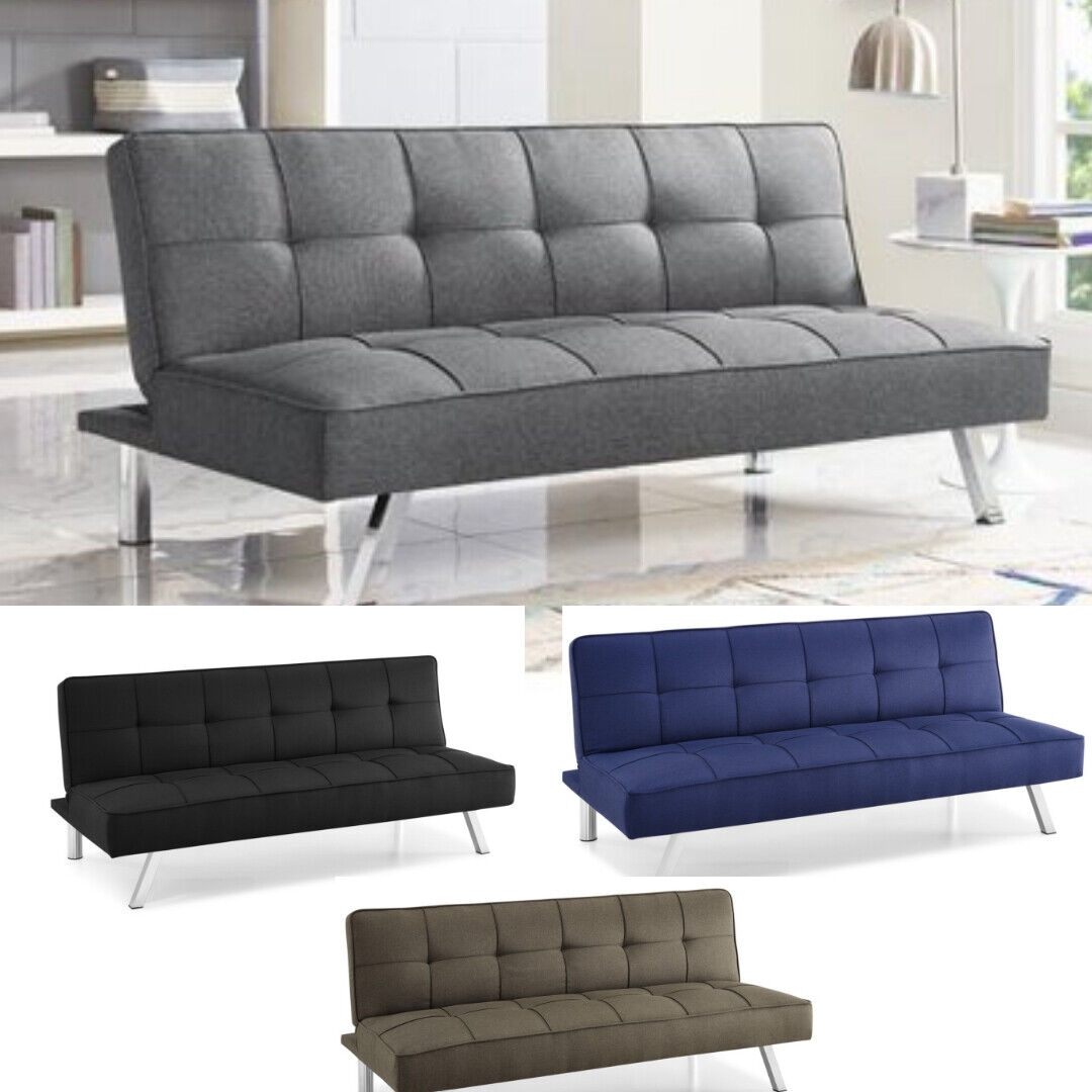 Modern Futon Sofa Couch Bed Sleeper Convertible Lounge Living Room ...