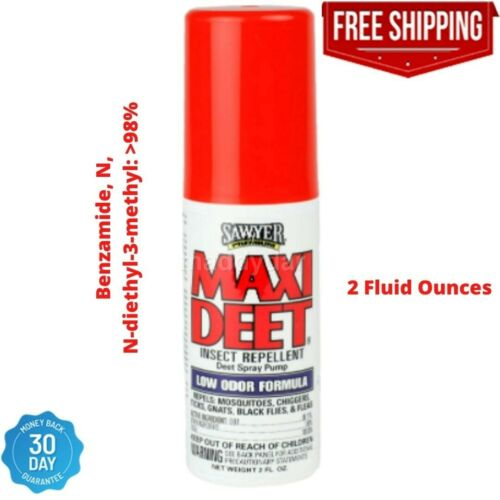Sawyer Products Premium Maxi-DEET Insect Repellent Pump Spray low odor Resistant