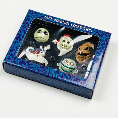 Nightmare Before Christmas Resin Face Magnet Set of 5 JUN Planning Early 2001