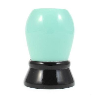 Acrylic Mint Green/Black Shaving Brush Handle Only (20mm - 24mm)