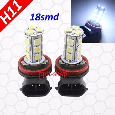 H11 Samsung LED 18 SMD Super White 6000K Headlight Xenon Light Bulbs Low Beam