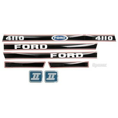 Ford 4110 Tractor Decal Set Aftermarket Replacement Hd Hood Decals Set