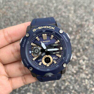 New Casio G-Shock GA2000-2A Carbon Core Guard structure Blue Ana-Digital Watch (Casio Core Digital Watch)